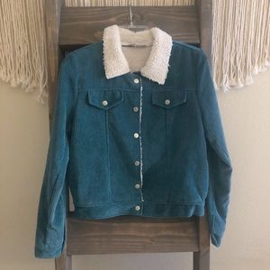 Teal corduroy jacket- Juniors✨